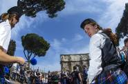 Roma 3 Aprile 2016 Pipe band - Tamburi e cornamuse all'arco di Costantino
